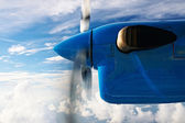 View through seaplane window — Stockfoto