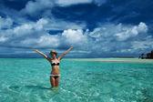Woman at beach — Stock Photo
