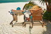 Couple at Maldives — Stock Photo