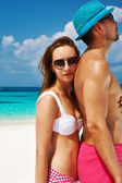 Couple at Maldives — Stock Photo