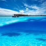 Beach with white sand bottom underwater view — Stock Photo #44194753