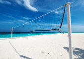 Beautiful beach with Volleyball Net  — Foto de Stock