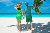 Couple  on a beach — Stock Photo