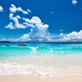 Pláž na seychely — Stock fotografie