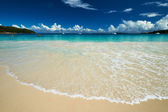 Beach at Seychelles — 图库照片