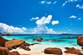 Stranden på seychellerna — Stockfoto