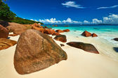 Beach at Seychelles — Stock Photo