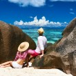 Couple on beach — Stock Photo