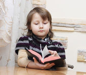 Girl with Bible — Foto Stock