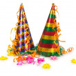 Hats streamers and other stuff for party — Stock Photo #12542586