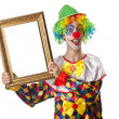 Funny clown on the white - Foto de Stock