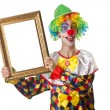 Funny clown on the white - Foto Stock