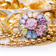 Large collection of gold jewellery — Stock Photo #12544673
