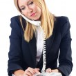 Businesswoman talking on the phone - Foto Stock