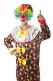 Funny clown on the white — Zdjęcie stockowe