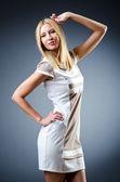 Mujer atractiva aislada en blanco — Foto de Stock