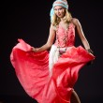 Dancer dancing spanish dances — Stock Photo