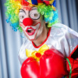 Clown with boxing gloves — Stock Photo #12648463