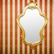 Stock Photo: Ornate mirror on wall