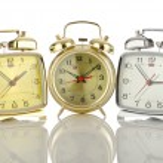 Alarm clock isolated on white — Stock Photo