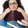 Student preparing for the exams — Stock Photo #12650903