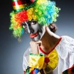 Funny clown in studio shooting — Stock Photo #12651244