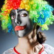 Funny clown in studio shooting — Stock Photo #12651246