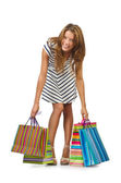 Happy girl after great shopping — Stock Photo