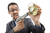 Empresario matando el tiempo en blanco — Foto de Stock
