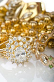 Lots of jewellery on white — Foto Stock