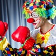 Clown with boxing gloves — Stock Photo #12846059
