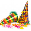 Stock Photo: Hats streamers and other stuff for party