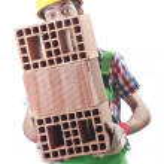 bouwvakker geïsoleerd op de witte — Stockfoto