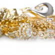Lots of jewellery on white — Stock Photo #12846756