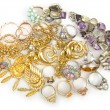 Lots of jewellery on white — Stock Photo #12846770