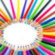 Colour pencils in creativity concept — Stock Photo