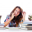 Student preparing for the exams — Stock Photo #12847343