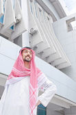 Arab on the street in summer — Stock Photo