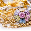 Large collection of gold jewellery — Stock Photo #13169383