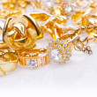 Large collection of gold jewellery — Stock Photo #13169384