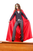Businesswoman in superwoman concept — Stock Photo
