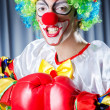 Clown with boxing gloves — Stock Photo #13292840