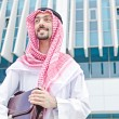 Arab on the street in summer — Stock Photo #13295939