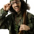 Funny soldier in humour concept — Stock Photo #13296736