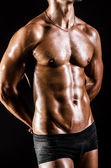 Bodybuilder with muscular body — Stock Photo