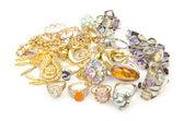 Montón de joyas en blanco — Foto de Stock