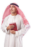 Arab man praying on white — Stock Photo