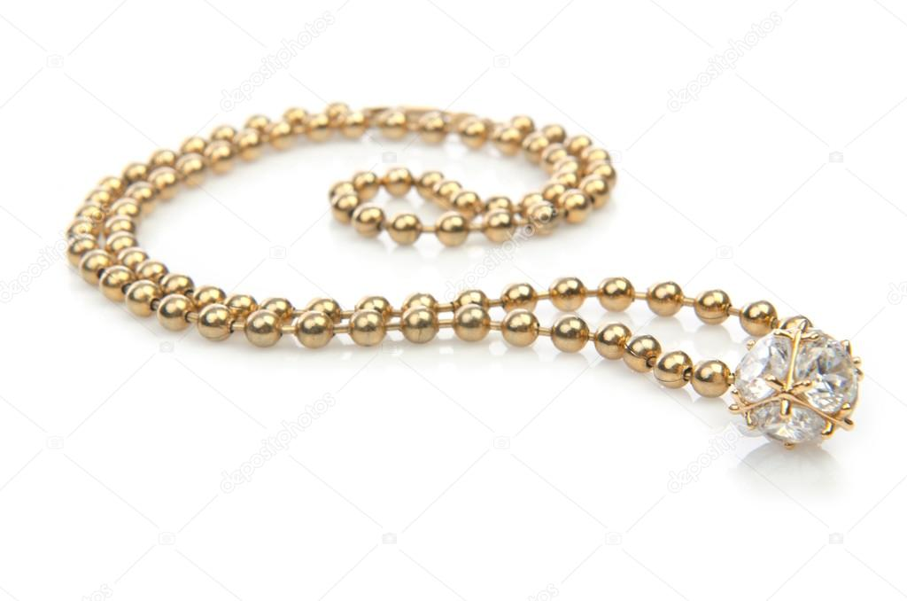 Necklace isolated on the white — Stock Photo #13298141