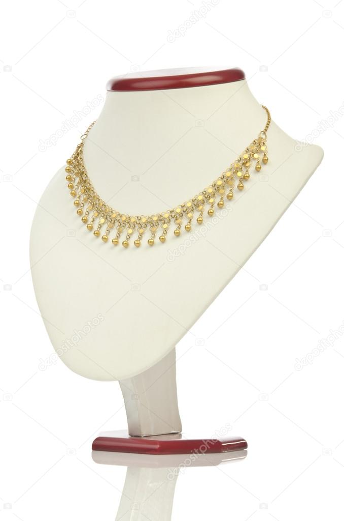 Necklace isolated on the white — Stock Photo #13298162