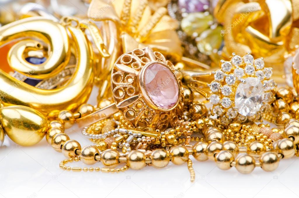 Large collection of gold jewellery   Stock Photo #13298323